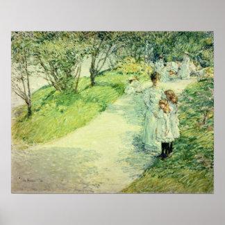 Promenaders in the garden, 1898 posters