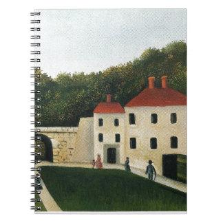 Promeneurs dans un Parc by Henri Rousseau Notebook