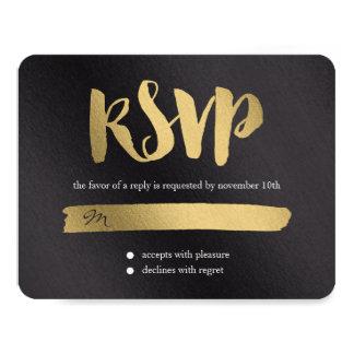 Promesa brillante que casa la tarjeta de RSVP Invitación 10,8 X 13,9 Cm