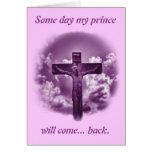 Promesa cristiana de Pascua Tarjeta De Felicitación