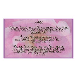 Promesas de dios en amor tarjetas de visita