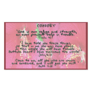 Promesas de dios en comodidad tarjetas de visita