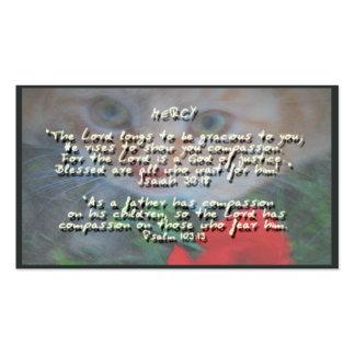 Promesas de dios en misericordia plantillas de tarjetas personales