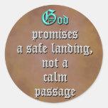 Promesas de dios etiqueta redonda