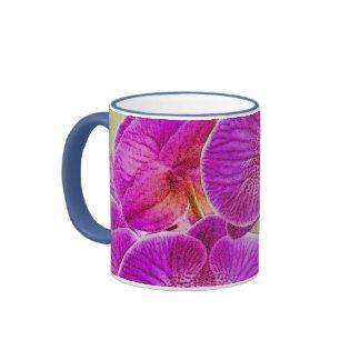 Promesas de la orquídea taza de dos colores