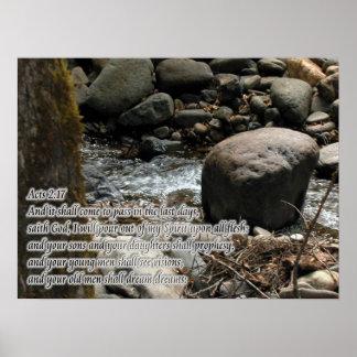 Promesas del 2:17 de los actos póster