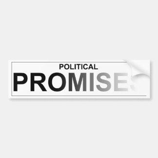 Promesas políticas - descolorándose pegatina para auto