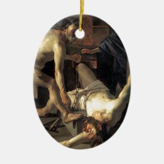 Prometheus Being Chained, by Dirck van Baburen Ceramic Ornament
