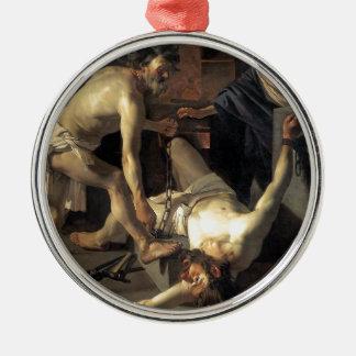 Prometheus Being Chained, by Dirck van Baburen Metal Ornament