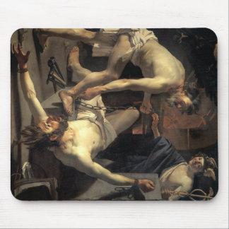 Prometheus Being Chained, by Dirck van Baburen Mouse Pad