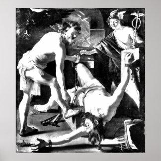 promethius encadenado por vulcan póster