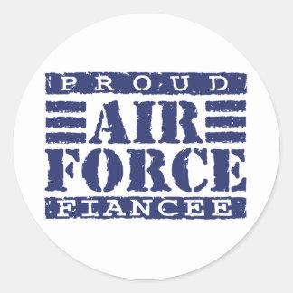 Prometido de la fuerza aérea pegatina redonda