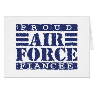 Prometido de la fuerza aérea tarjeta de felicitación