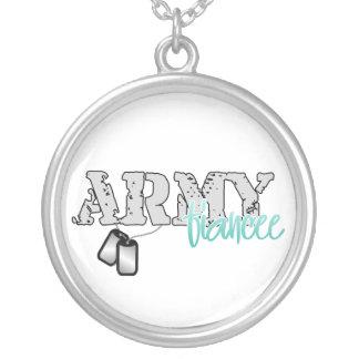 Prometido del ejército collar plateado