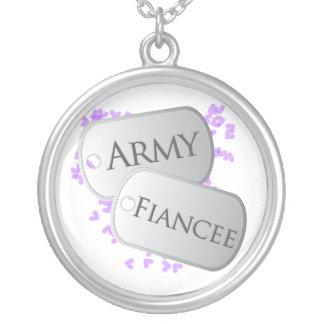Prometido del ejército de las placas de collar plateado