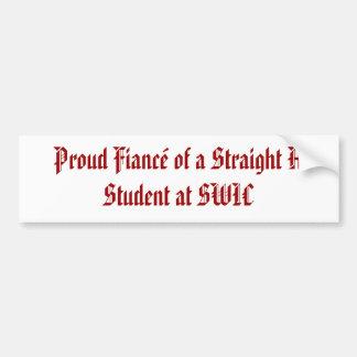 Prometido orgulloso de un recto un estudiante en S Pegatina Para Auto