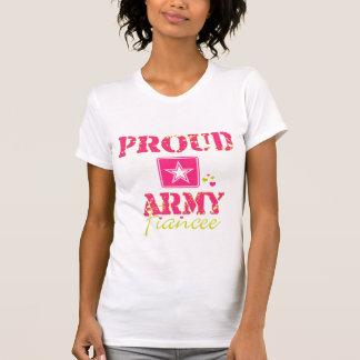 Prometido orgulloso del ejército playeras