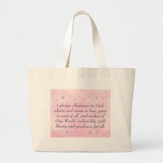 Prometo lealtad a dios, bolsos de la lona bolsas