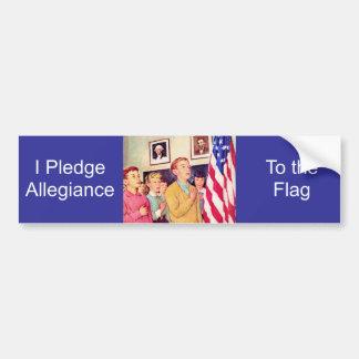 Prometo lealtad a la bandera etiqueta de parachoque