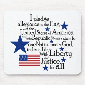 Prometo lealtad a la bandera del unido tapete de ratón
