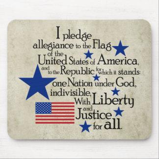 Prometo lealtad a la bandera mousepad