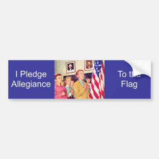 Prometo lealtad a la bandera pegatina para auto
