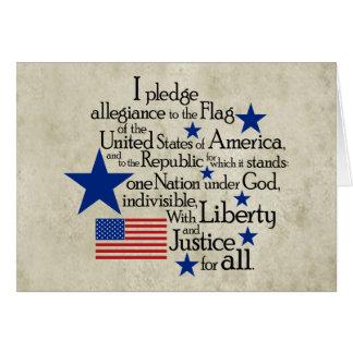Prometo lealtad a la bandera tarjeta