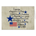 Prometo lealtad a la bandera tarjeta pequeña