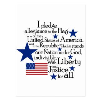 Prometo lealtad a la bandera postales