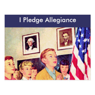 Prometo lealtad a la bandera tarjetas postales