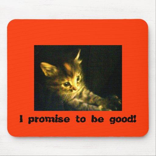 ¡Prometo ser bueno! Alfombrillas De Ratones