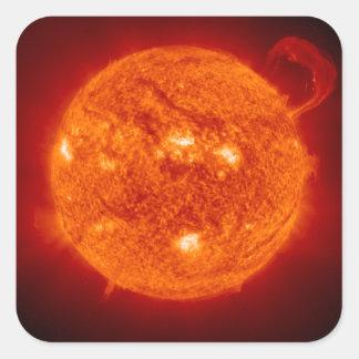Prominencia estupenda - Sun en espacio Pegatinas Cuadradas