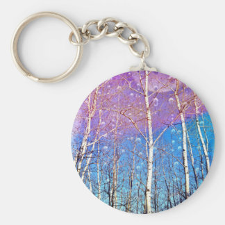 Promise Me Spring Basic Round Button Keychain