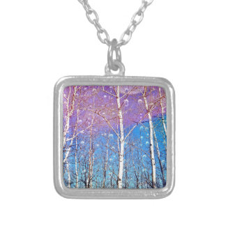 Promise Me Spring Square Pendant Necklace