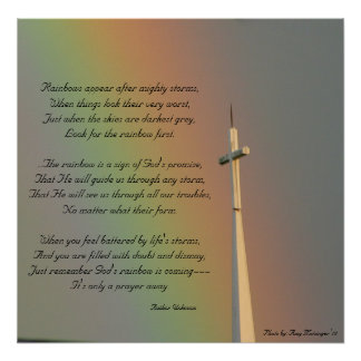 Promise of God's Rainbow Poster