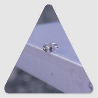 Promise of Love Ring Triangle Sticker