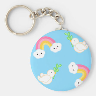 Promise of Peace Basic Round Button Keychain
