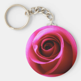 Promise Rose Basic Round Button Keychain