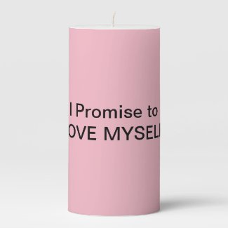 Promise to Love yourself Pink Ritual Candle