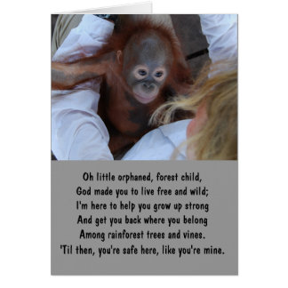 Promise to Wildlife Orphans Card
