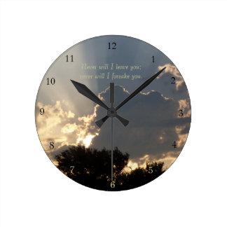 Promises of God Fingers of Light Round Clock