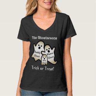 PROMO1 Funny Halloween Ghost Family Custom Text T-Shirt