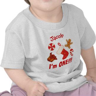 PROMO1 One Year 1st Birthday Christmas Elements V6 Tshirts