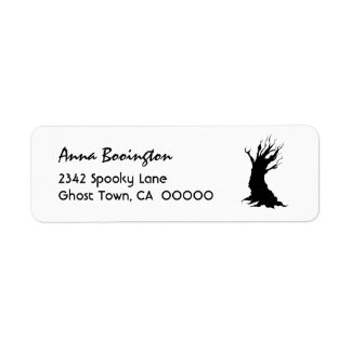 PROMO1 SPOOKY TREE Halloween Theme H29 Custom Return Address Labels