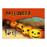 "PROMO1 Vintage Halloween Pumpkin and Moon Party V3 5"" X 7"" Invitation Card"