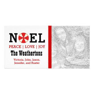 PROMO4 Holiday Photo NOEL Peace Love Joy Card P40 Custom Photo Card