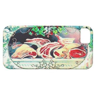 Promo 1872 de la carne del vintage iPhone 5 fundas