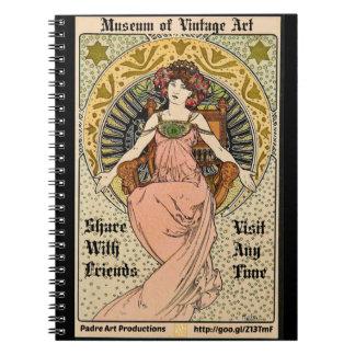 Promo 1898 de Nouveau del arte de MOVA Cuaderno