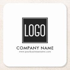 Promo Brand | Business Company Logo Square Paper Coaster