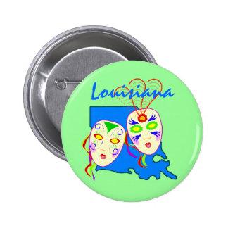 Promo Buttons ~ State Louisiana Mardi Gras Masks